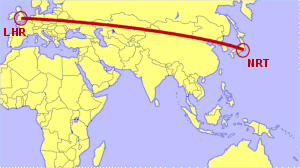 London Heathrow To Tokyo Narita Direct Flight Options Compared - Japan uk map