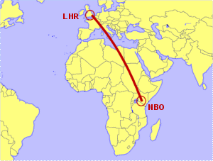 London Heathrow to Nairobi - Direct Flight Options Compared on kenya location on world map, republic airways holdings route map, british airways route map, bangkok airways route map, sudan airways route map, xtra airways route map, jet airways route map, zimbabwe airways route map, us airways route map, kenya airways home, etihad airways route map, qatar airways route map, kenya airways fares, thai airways route map, silver airways route map, kenya airways 747 interior, south african airways route map, xl airways route map, pan american world airways route map,