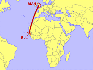 Manchester to Banjul Direct Flight Options Compared